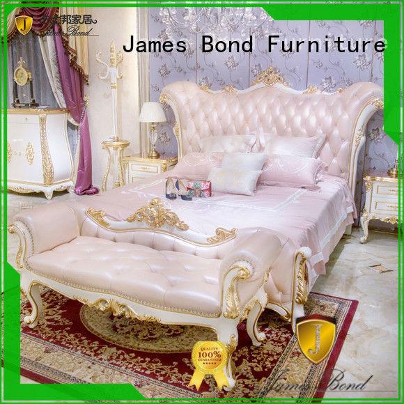 James Bond gorgeous luxury king size bedroom sets wholesale for apartment