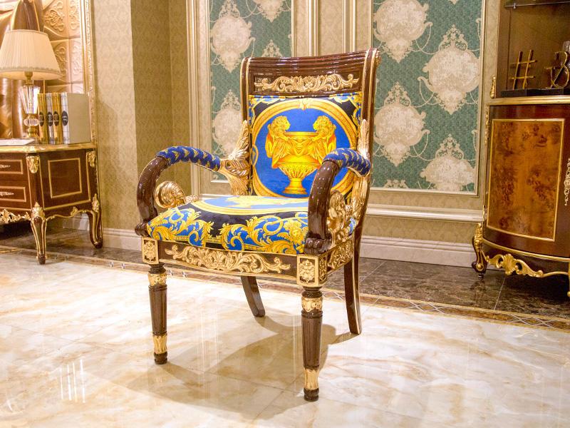 James Bond velvet neoclassic chair supplier for church-1