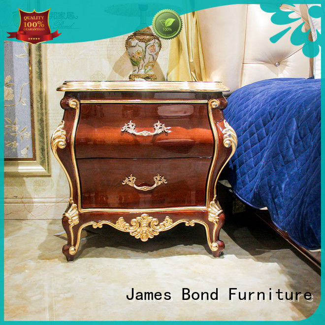 James Bond solid wood classic bedside table wholesale for home