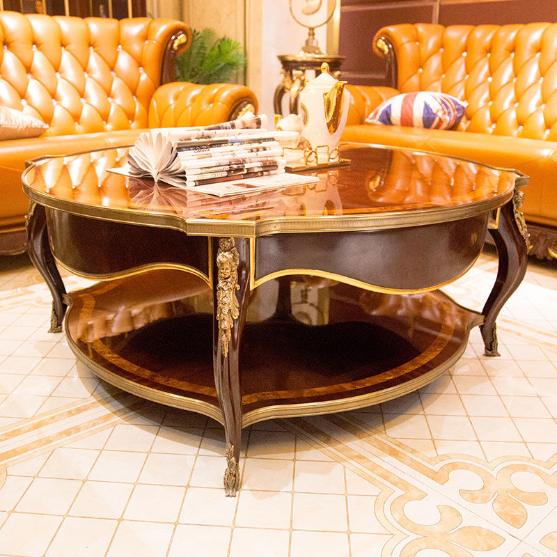 James Bond Classic coffee table solid wood with piano resin paint JP678