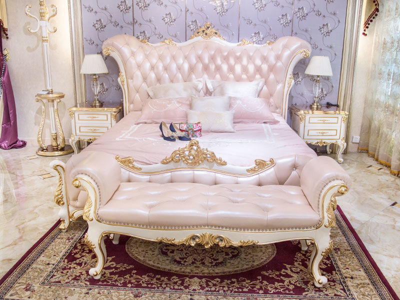 James Bond traditional bedroom furniture from China for villa