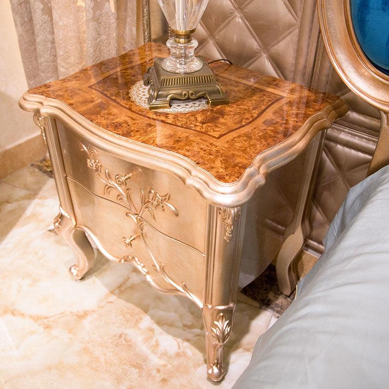James Bond  Classic bedside table designs 14k gold and solid wood  JP615(golden)