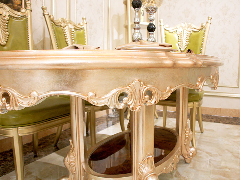 solid woodtraditional dining table supplier for villa-5