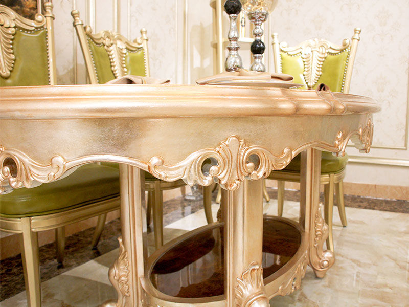 solid woodtraditional dining table supplier for villa