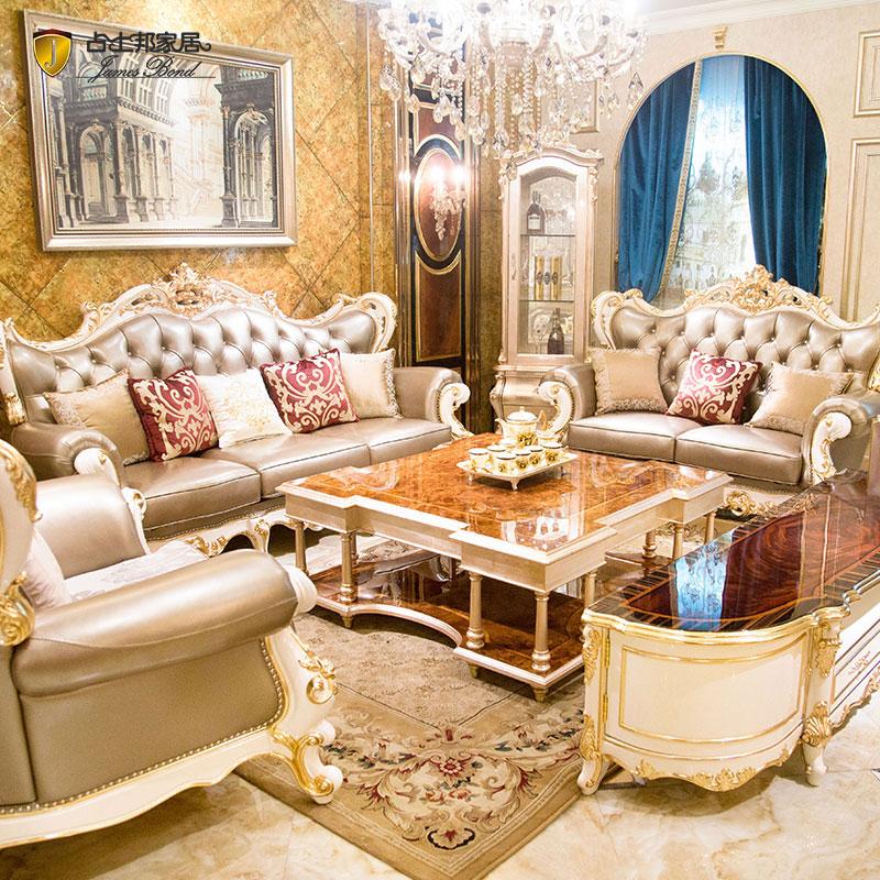 Μοντέρνο κλασικό καναπέ 14 καράτια χρυσό και μασίφ ξύλο Ανοιχτό γκρι A2803