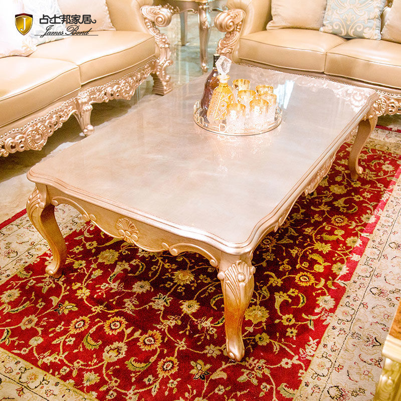 James Bond Classic coffee table furniture solid wood with piano resin paint Brown  F008