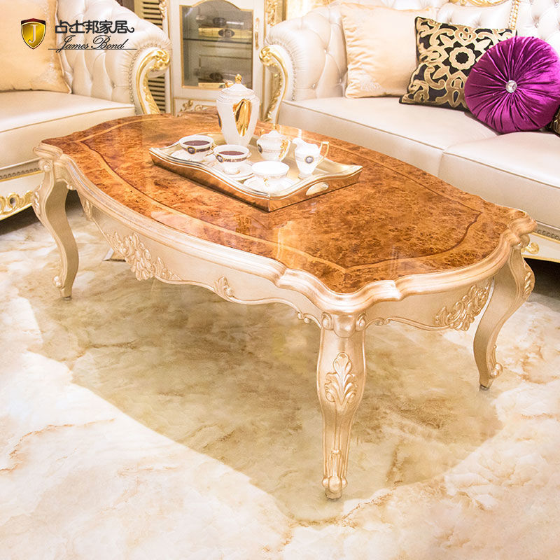 James Bond Classic coffee table solid wood with piano resin paint Brown JF01