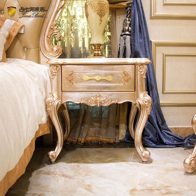 Κλασικό κομοδίνο 14k χρυσό και μασίφ ξύλο JP614 James Bond (Champagne e