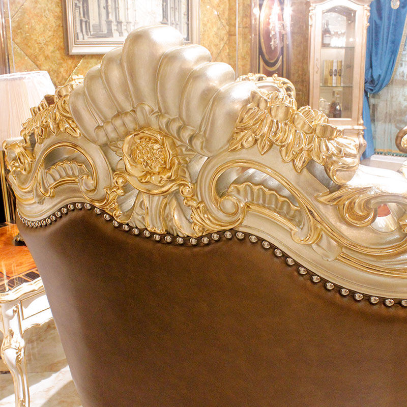 Classic sofa furniture 14k gold and solid wood gold&champagne A2819 James Bond