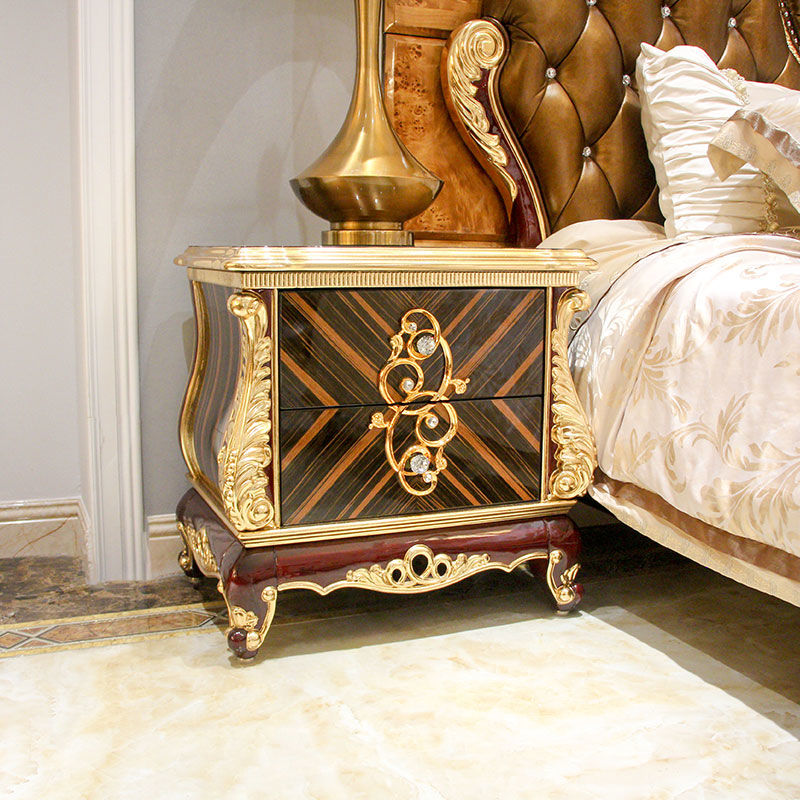 Classic bedside table with beautiful sculpture