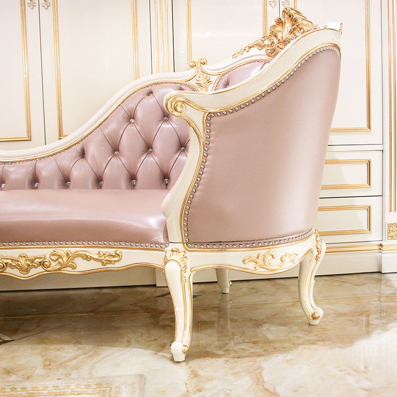 Classic chaise longue design rose gold and solid wood JP617 James Bond