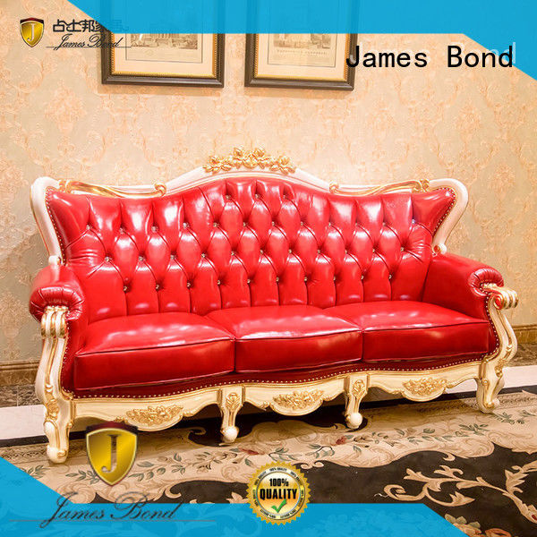 James Bond stable leather chesterfield sofa series for restaurant
