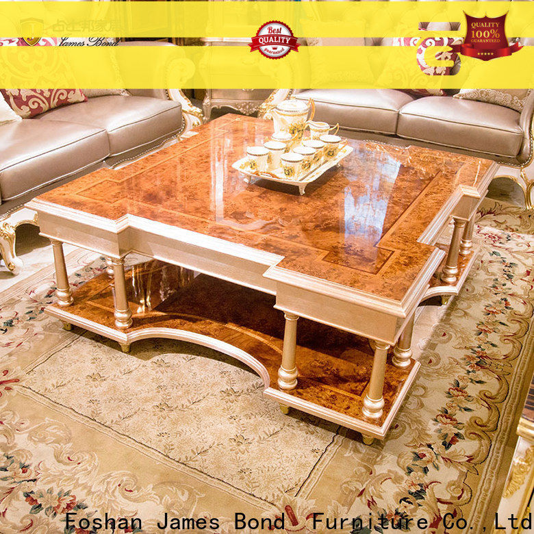 High-quality espresso coffee table with storage james factory for hotel
