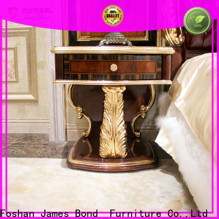 James Bond Wholesale simple white bedside table supply for hotel