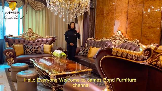 James Bond Purple Classic Sofa -A2818