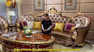 James Bond Classic sofa traditional sofa solid wood light brown A2810
