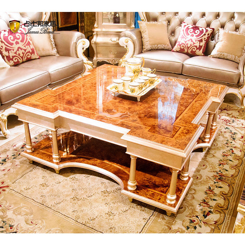 James Bond Classic coffee table solid wood with piano resin paint Brown JP161