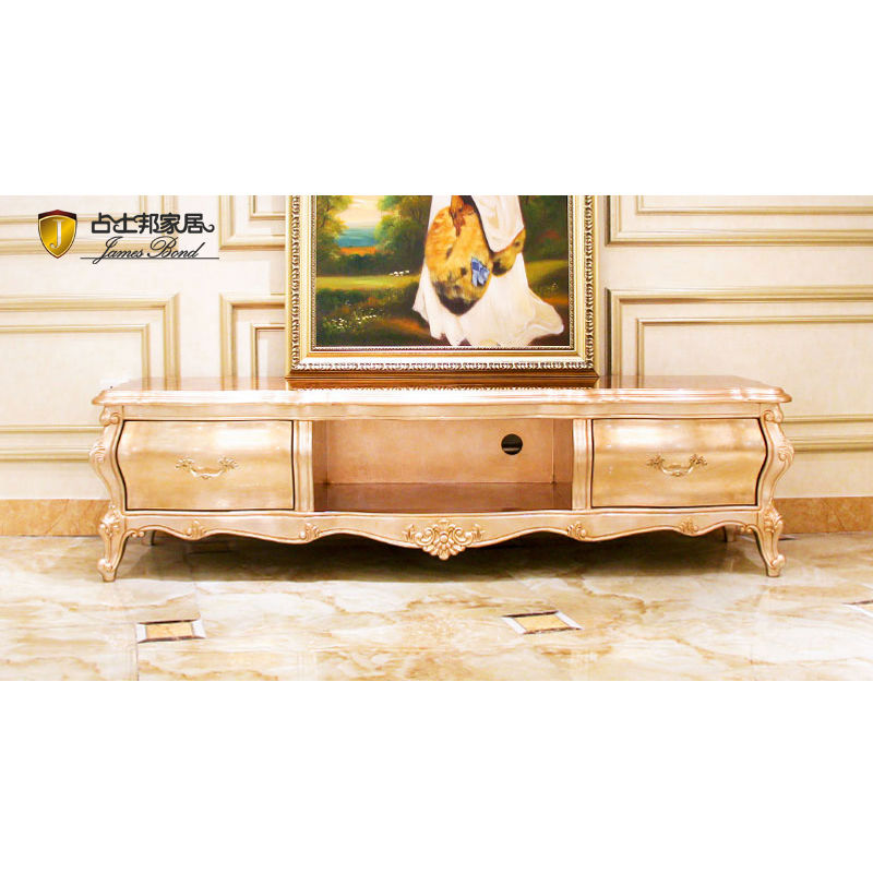Classic TV Cabinet Design Rose Gold and Solid Wood JF03 James Bond