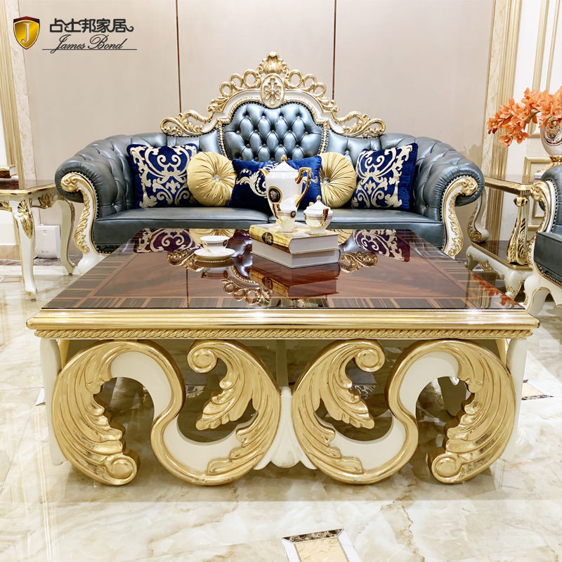 Italian classic furniture luxury hand-carved coffee table F052