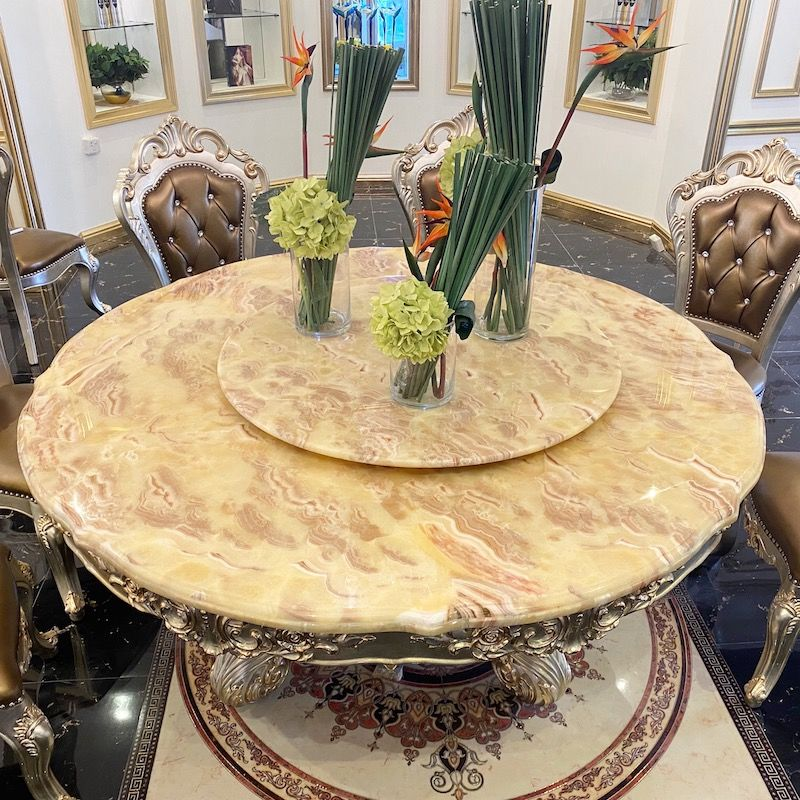 Luxury furniture-Hand carved classic dining table JP712