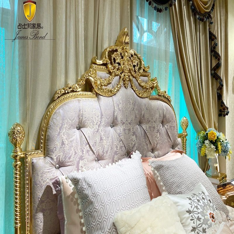 Italian style furniture JP800 classic bed with imported high quality cloth