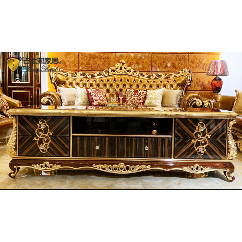 Top Quality Pure manual carving classic TV cabinet Wholesale-James Bond