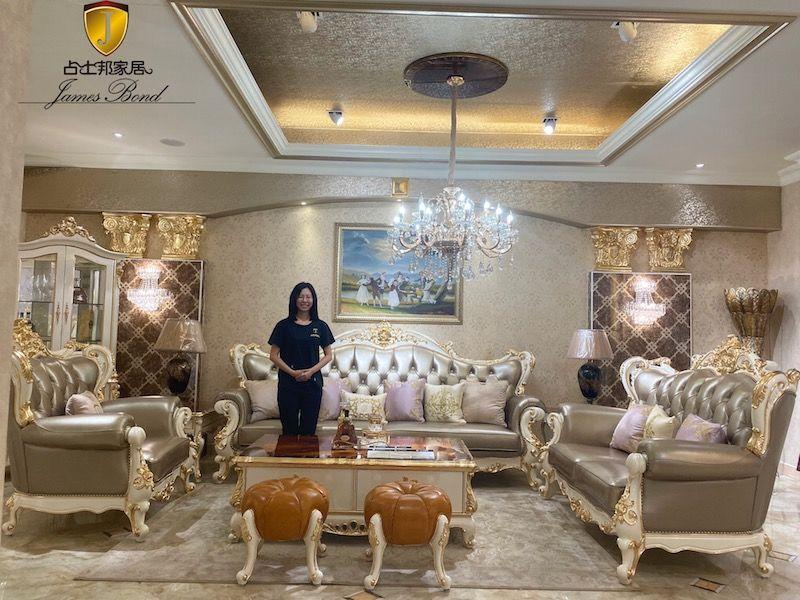 James Bond Furniture-Traditional Classic sofa set A2803
