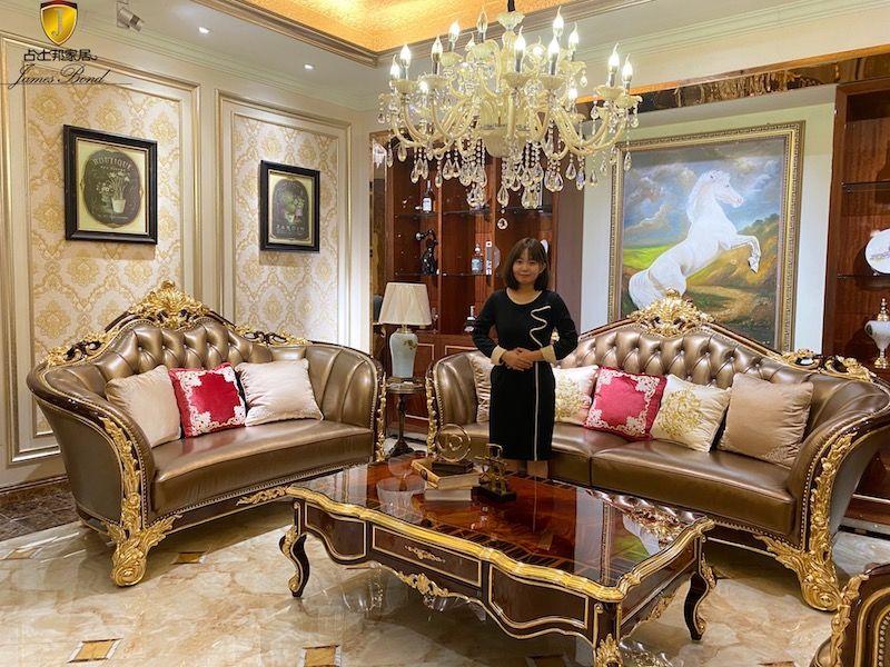 Luxury Italian classic sofa set A2829- from James Bond Furniture
