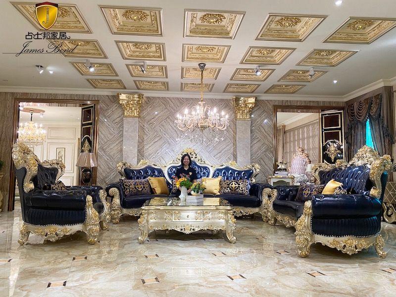 Classic Italian furniture living room luxury sofa set A2832