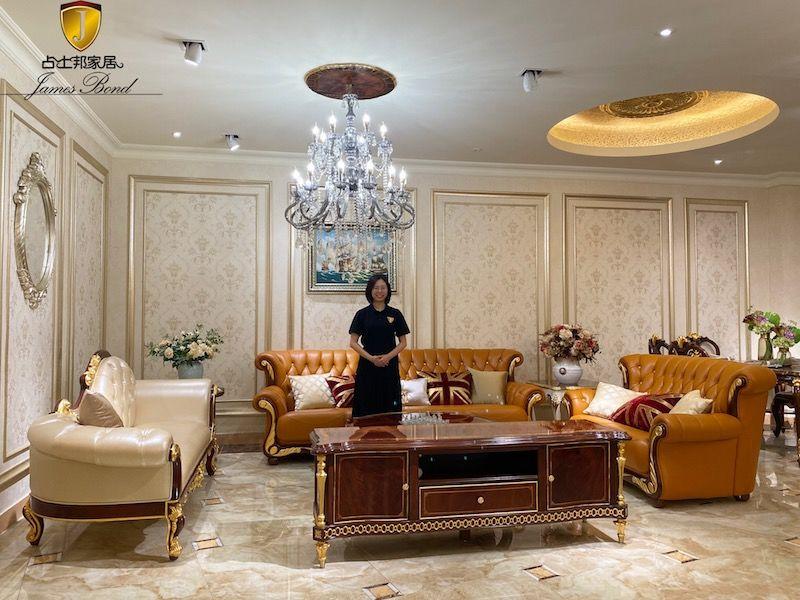 Italian furniture design classic sofa set A2741 from James Bond Furniture