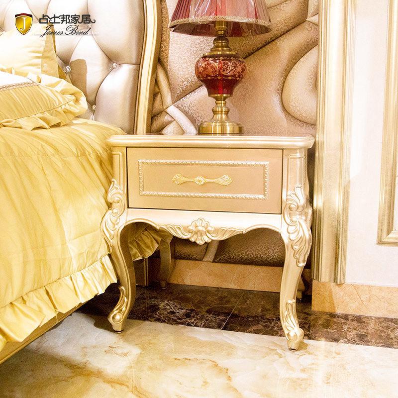 James Bond  Classic bedside table designs solid wood  F093(golden)