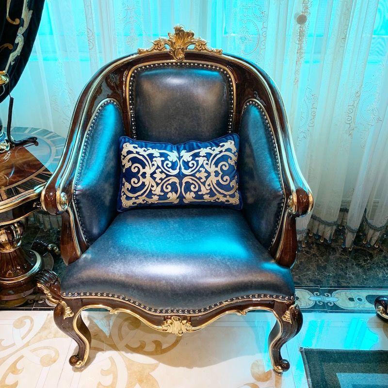Luxury classic furniture A950 hand-carved leisure chair from James Bond furniture