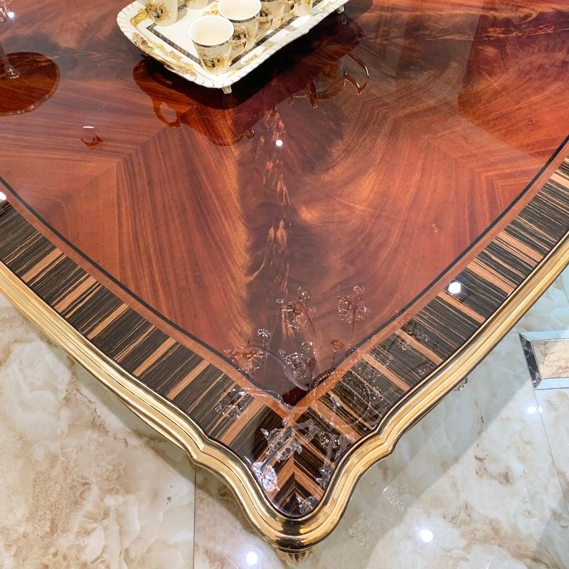 High end Italian furniture square classic coffee table D2789