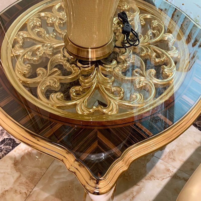 Golden leaf furniture D2815 made by hand James Bond Furniture