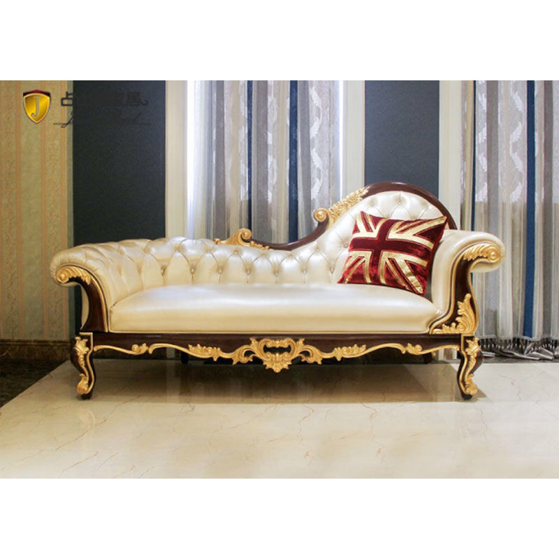 classic leather furniture-classic chaise longue