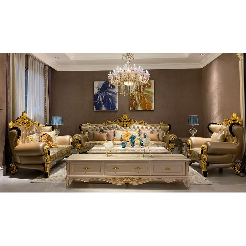 Classic living room set Luxury hand carved sofa set DS105