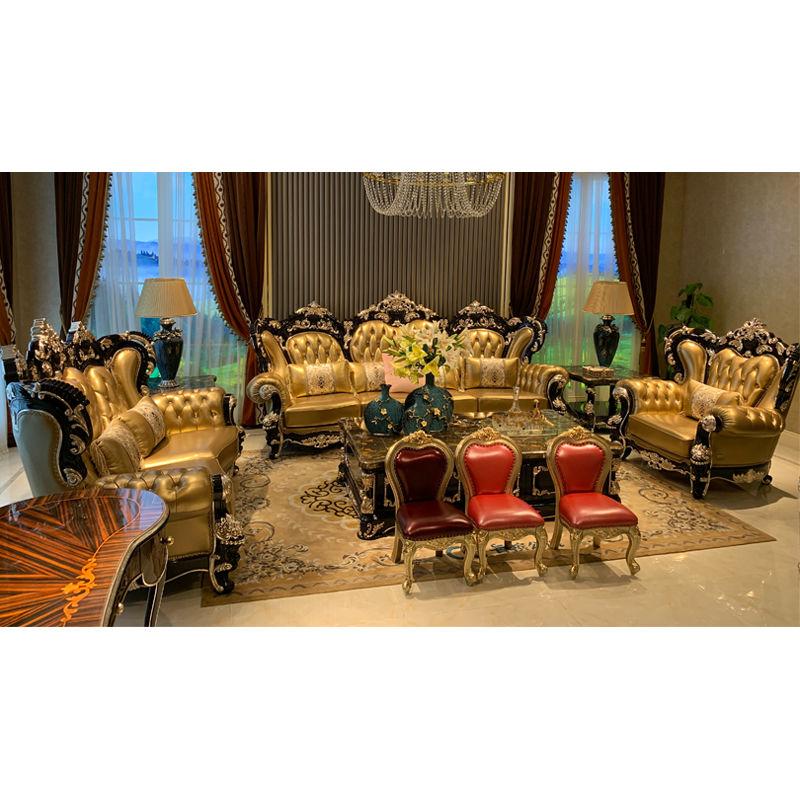 luxury Italian furniture high value classic sofa set DS028(F818)