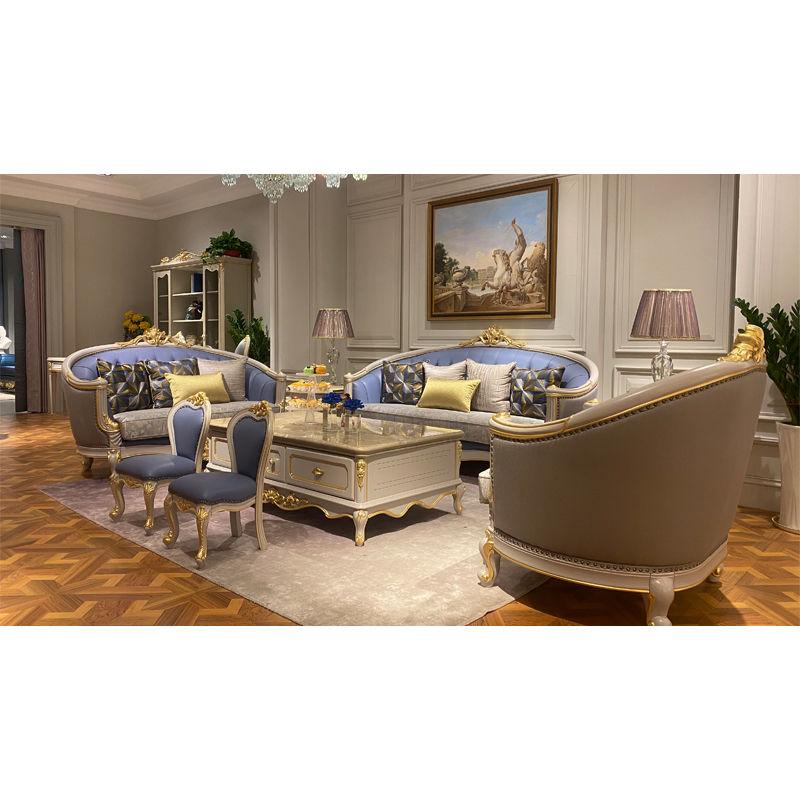 European furniture hand carved classic sofa set DS-311