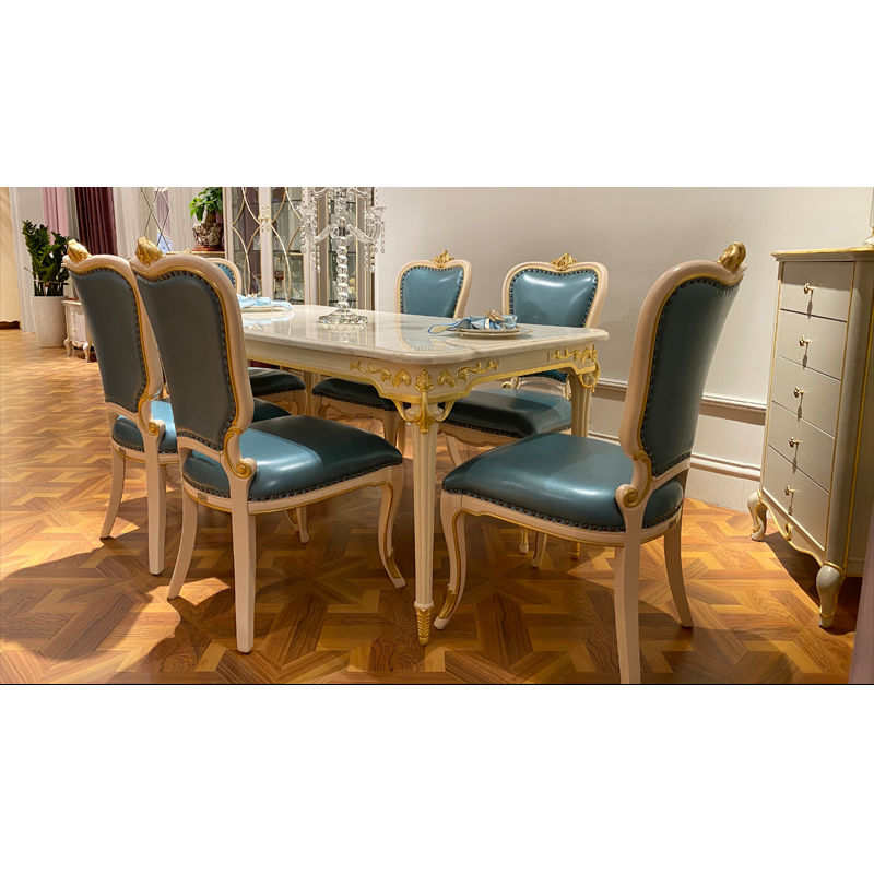 Classic dining room furniture T-932a-1 with marble table top
