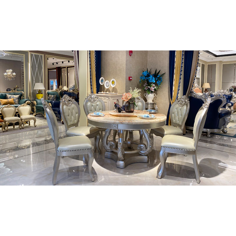 Classic dining room James Bond Furniture marble classic dining table