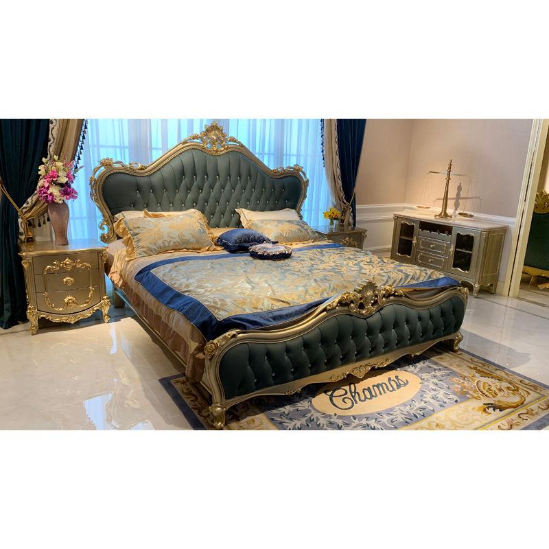 Classic bedroom James Bond Furniture classic elegant bed H-3383