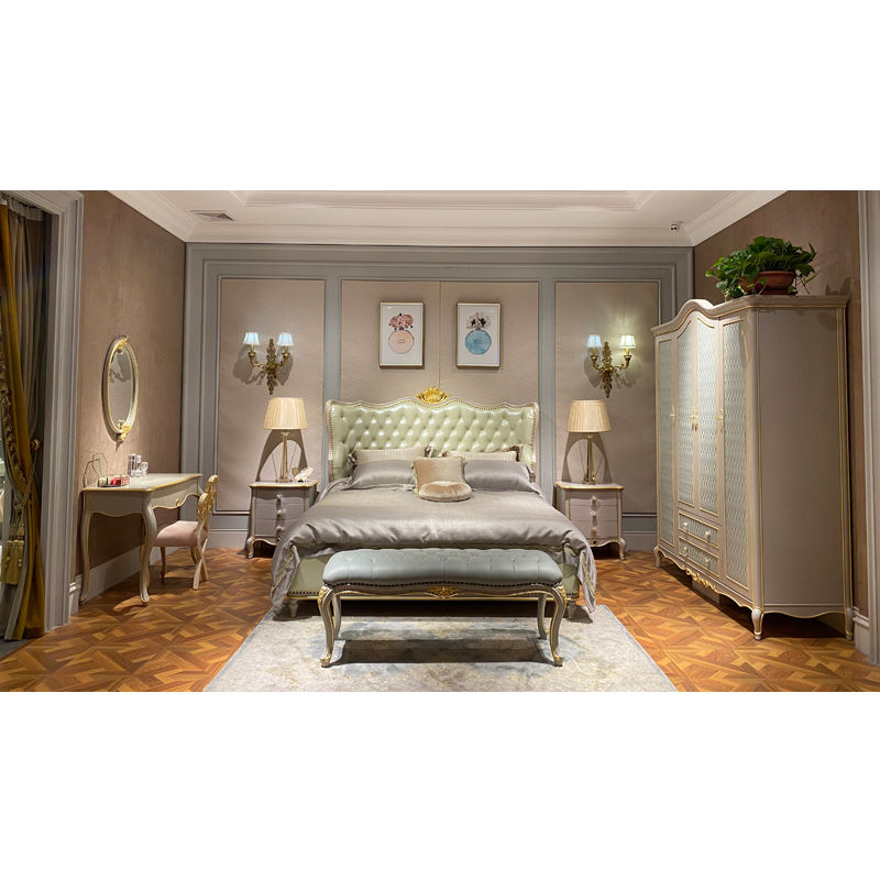 Classic bedroom set simple carving and elegant modeling H-926a