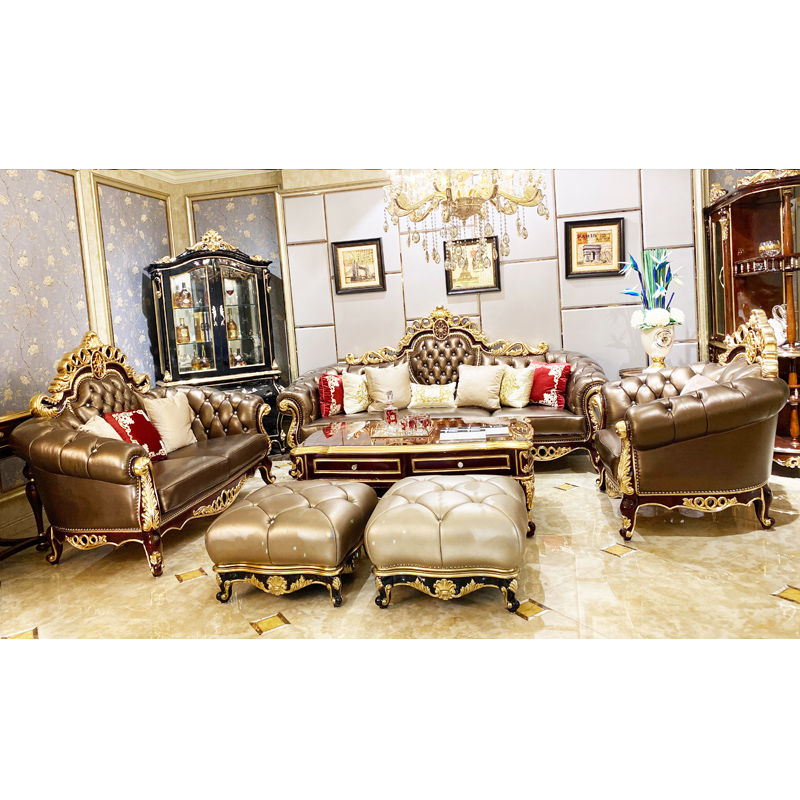 James Bond Classic sofa styles 14k gold and solid Brown /off-white JF245