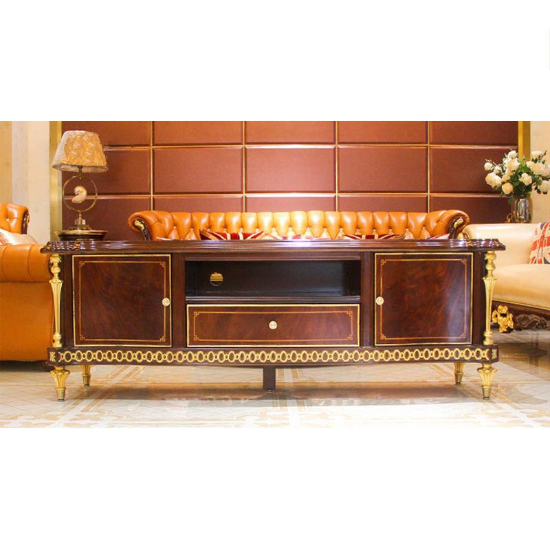James Bond Classic TV cabinet design 14k gold and solid wood JP665