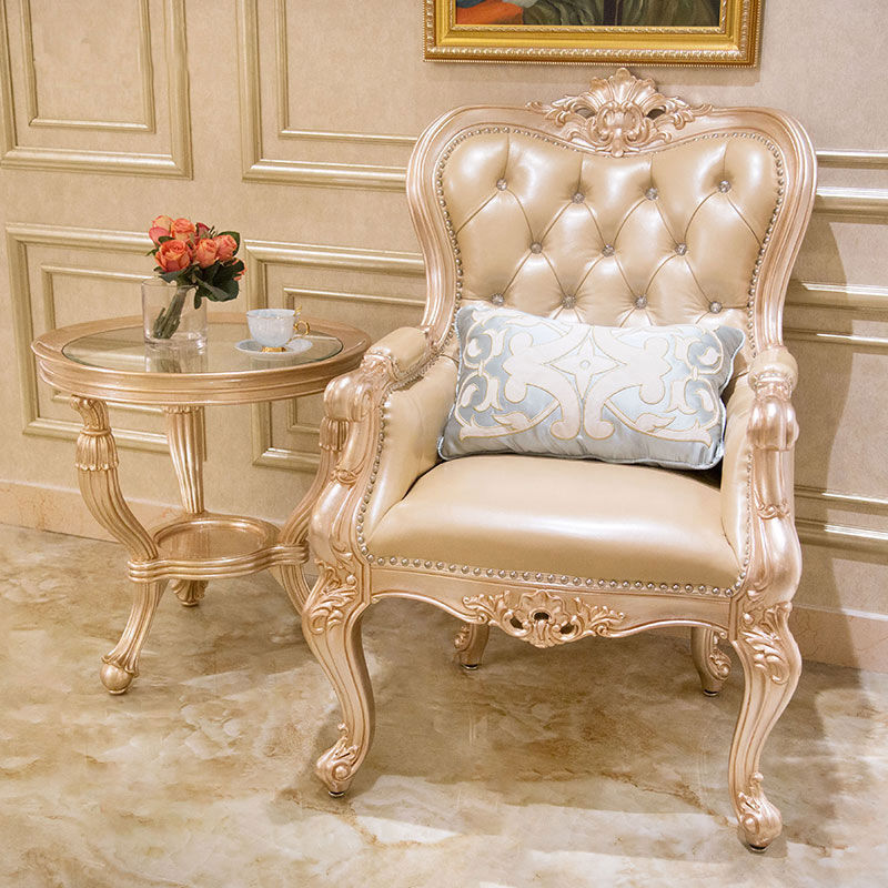 James Bond classic furniture  leisure chairs(Light grey & champagne)A970