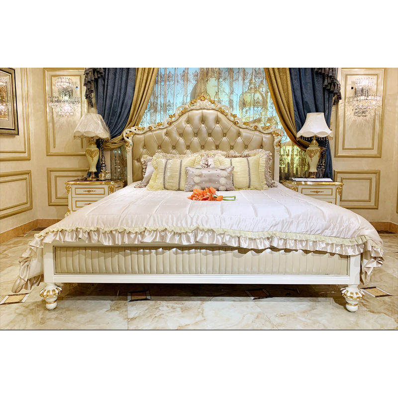 Classic furniture Italy hand carved classic bed JP731
