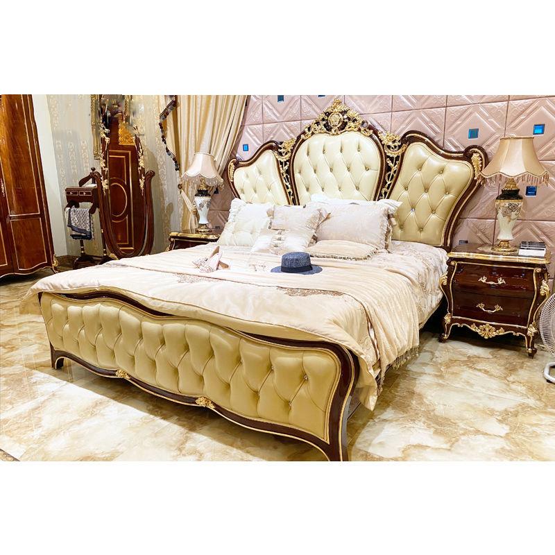 Italian bedroom furniture JP721 King size luxury bed