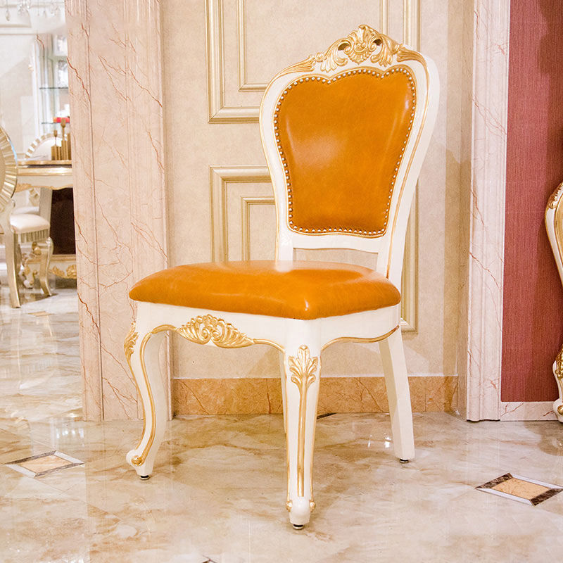 James Bond classic English style dining chair 14k gold and solid wood H308
