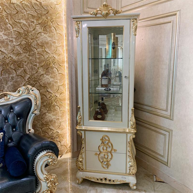 New classic furniture hand stick gold foil wine cabinet JF233