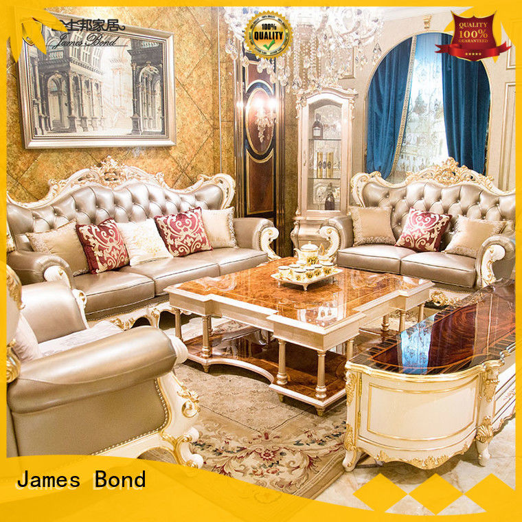 James Bond leather traditional couches living room directly sale for guest room